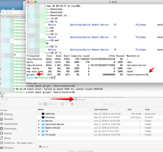 Rclone mount issue on MacOS - Google API limit reached? - question